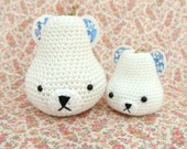 Crochet Polar Pears ~ Papa & bébé ~ READY TO SHIP