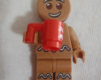 Custom Gingerbread Man Necklace Made With Genuine LEGO® Bricks