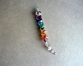 Chakra  Energy Inspired Necklace Healing Crystals Silver (Matches Energy Inspired Earrings)