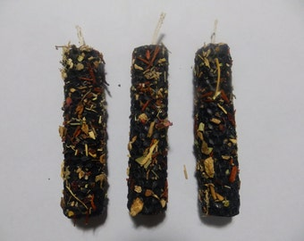 Cross Cleaning Loaded Beeswax Candle Wicca Pagan Spirituality Religion Ceremonies Hoodoo Metaphysical MaidenMotherCrone