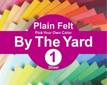 1 YARD Plain Felt Fabric - pick your own color (A1y)