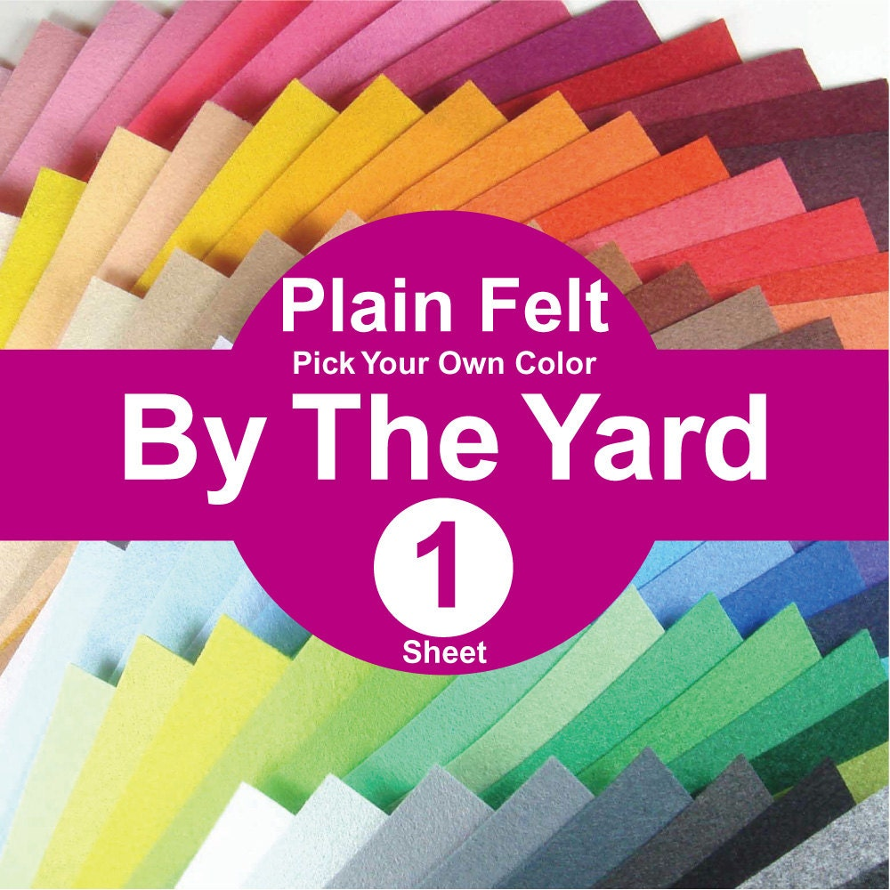 1 Yard Plain Felt Fabric Pick Your Own Color A1y From