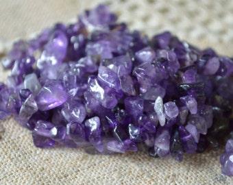 Amethyst 36 Inch Strand Chips Gemstone Beads Small Chip