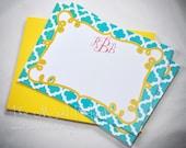 "Monogram Flat 5""x7"" Note Cards - Custom Made"