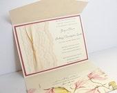 Lace Wedding Invitations, Lace Wedding Invite, Wedding Invitations, Wedding Invite, Floral Invite, Vintage Invitation ANKA - MULTI COLOR