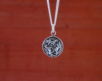 "Celtic Horse Pendant  with 18"" Chain .925 Sterling Silver Equestrian Gifts"