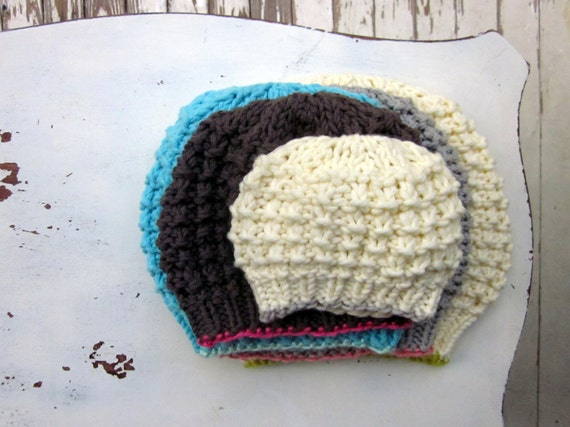 Child s Knit Hat Pattern Bulky Yarn : knitting pattern winter hat bulky yarn knitting pattern PDF