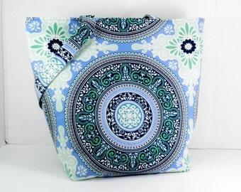 Library Tote Bag, Sandi Henderson, Secret Garden, Garden Gate, Diaper Bag, Large Purse, Shopping Tote, Handmade Craft Bag, Carry All