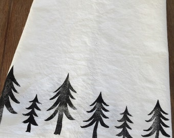 Flour Sack Towel - Forest Trees