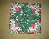 Handmade Quilted Square Table Mat
