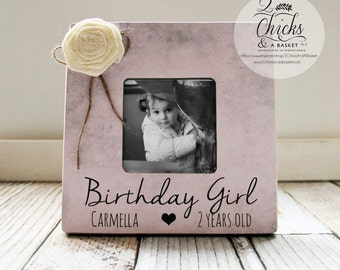 Birthday Girl Picture Frame, Personalized Birthday Picture Frame, Baby Girl Birthday Gift Idea