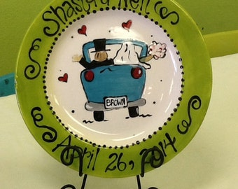 Personalized Wedding Platter with Bride and Groom