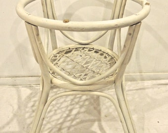 Vintage Rattan Table Base 1960s 70s White Rattan Bamboo