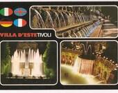 Postcard Italy Tivoli - Villa Tivoli Vintage Postcard Collectible - Italian Travel Souvenir - Fountains Villa D'este Tivoli