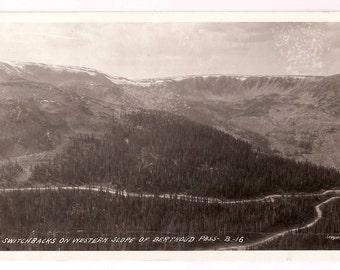 Postcard Rocky Mountains Colorado Berthoud Pass - CO Black and White Photo Post Card
