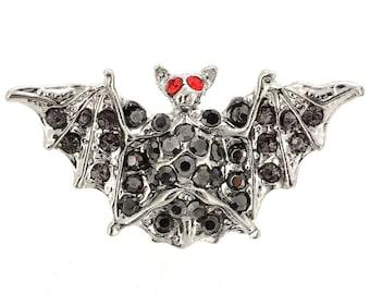 Black Bat Brooch Pin 1010711