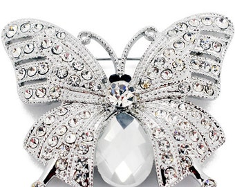 Crystal Butterfly Pin Brooch 1003552