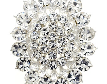 Crystal Flower Wedding Pin 1004071
