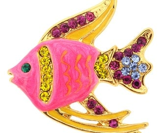 Pink Fish Brooch Pin 1010761