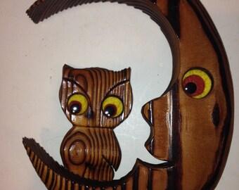 Wooden Owl Wall Hanger