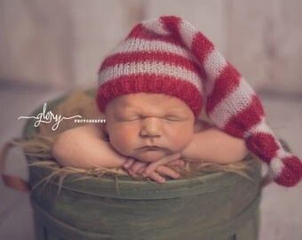 Newborn night cap.  Newborn photo prop