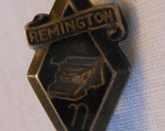 Sterling Remington typewriting award pin