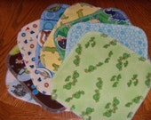 BOY GRAB BAG,Reusable Cloth Wipes, Flannel Cloth Baby Wipes, Wash Cloths, Cleaning Rags, Mystery Set of 24