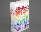 READY TO SHIP - Confetti Soap - Rainbow, Candy Crush, gay pride, gay wedding, party favor, wedding favor, shower favor, bar of soap