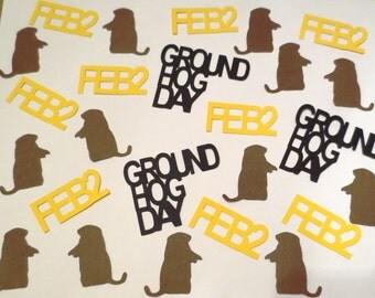 Groundhog Day Confetti - Set of 102