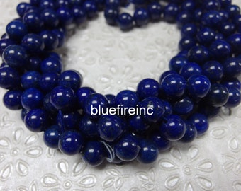 6mm Azura Lapis Lazuli Gemstone AA Blue Round 6mm Loose Beads 15.5 inch Full Strand