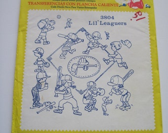 Aunt Martha's Hot Iron Transfers - 3804 - LIL' LEAGUERS - Never Used