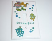Mermaid and Ocean Pals Single Lightswitch Cover