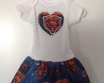 Chicago Bears Inspired Infant Dress
