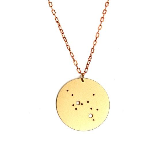 Sagittarius Gold Flash Constellation Pendant Necklace