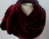 Wine Velvet shawl/scarf o