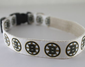Boston Bruins hemp dog collar or leash