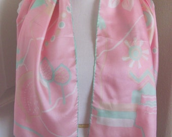 "Beautiful Pink Soft Silk Scarf // 14"" x 44"" Long  // Best of the Best"