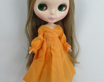 Handcrafted long sleeve dress night gown pajamas outfit for Blythe doll 955-9