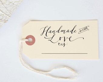 "Handmade with Love Custom Stamp 1.5 x 2"""