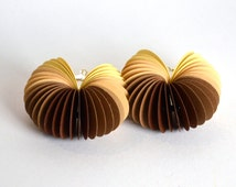 ombré brown: Dangle Earrings CARTA - made of cardstock