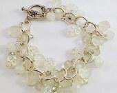 Moon Glow - Beaded Charm Bracelet - Bohemian Style - Hippie Chic