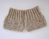 Crochet Boot Cuffs Boot Topper  Boot Sock Leg Warmers