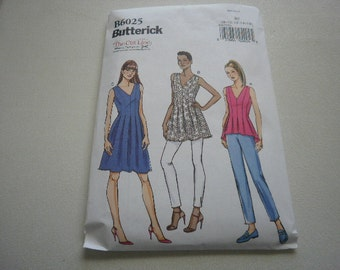 Pattern Ladies Tunic Top or Dress Sizes 8 to 16 Butterick 6025