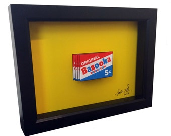 Bazooka Joe Bazooka Gum 3D Pop Art Bazooka Bubble Gum Wrapper