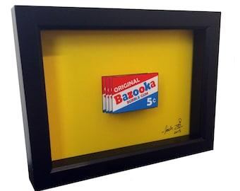 Bazooka Joe Bazooka Gum 3D Pop Art Bazooka Bubble Gum Wrapper