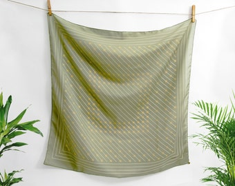 Vintage French Geometric Print Silk Scarf  - 1970 - Vintage Designer Rembel