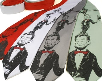 Abe in the Hat - Abraham Lincoln Dr. Seuss Tribute Necktie