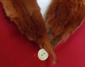 """Vintage Fur Collar & Cuffs Lined Red Coat with Long Sleeves Bust 40"""" Waist 37"""""""