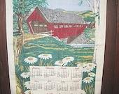 Vintage 1978 Fabric Wall Hanging Calendar