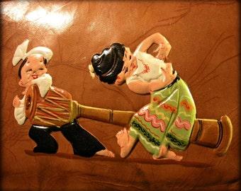 Hand-Painted Burmese Leather Handbag